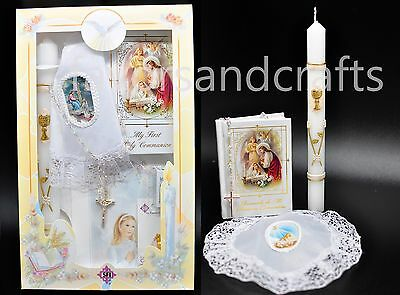 First Communion Candle Set Accessories Gift Favors Comunion (Girls-Spanish)