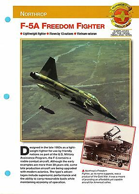 Northrop F-5A Freedom Fighter Number 119 - Group 4 Aircraft of World Fact Sheet