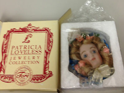 """Patricia Loveless Jewelry Collection """"Mina"""" JUMEAU DOLL Pin NEW IN BOX"""