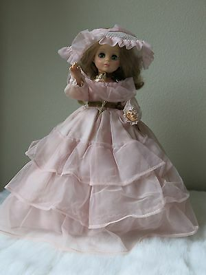 """VINTAGE Horsman 13"""" GONE WITH THE WIND Southern Belle Doll 1979 with stand"""