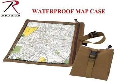 Coyote Brown MilitaryTactical Waterproof Map & Document Case Pouch 9238
