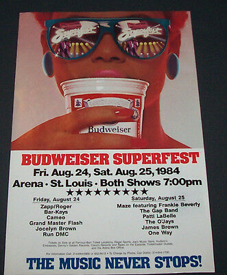 RARE LOT OF3 1984 BUDWEISER SUPERFEST JAMES BROWN  BOXING STYLE CONCERT  POSTERS