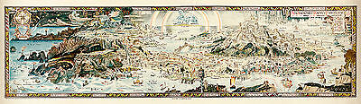 """An Anciente Mappe of Fairyland 1920 51"""" x 14.9"""" Vintage Map Art Print"""