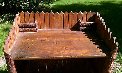 Rare Rustic hickory company old adirondack desk with matching chair lodge cabin