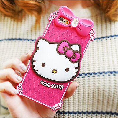 Hello Kitty Case for iPhone 6 Silicone Cover Fitted Made Korea Classic Hot Pink