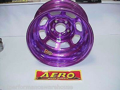 "Aero PURPLE 5 x 4-3/4"" Wheel 15""x 8"" IMCA 1"" Offset 52-984710 W12 Modified"