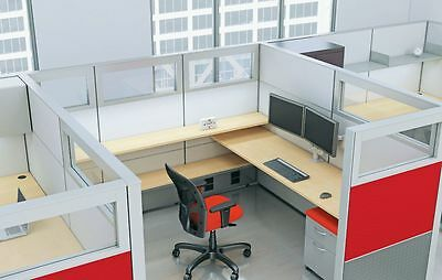 Matrix Modern Collaborative Office Modular Workstation/Desk/Table/Cubicle/Panels