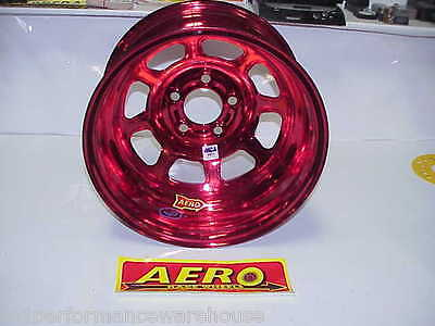 "Aero RED 5 x 4-3/4"" Wheel 15""x 8"" IMCA 1"" Offset 52-984710 Hobby Stock W17 NICE!"