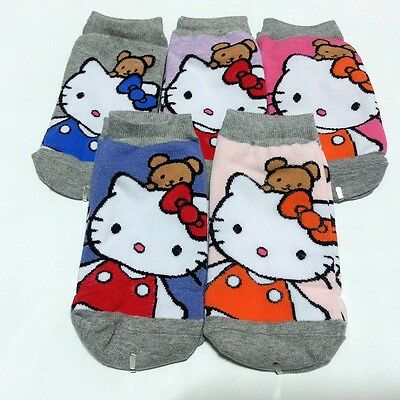 Womens Ladies Girls Hello Kitty Ankle Socks Sports & Casual & Fashion 5 Colors
