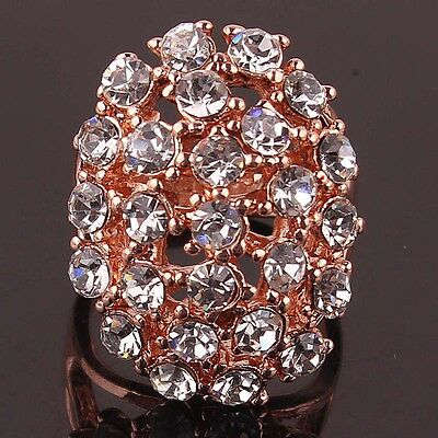 Women New Fashion 14k Gold Filled Austrian crystals Size 7.5 Ring Gift B440