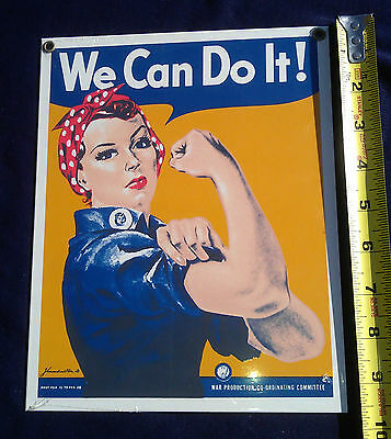 Rosie the Riveter, We Can Do It!  Smithsonian, metal, WW II poster reproduction