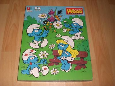 PUFFI SMURF MB PUZZLE BOXED GENIUNE WOOD PUZZLE