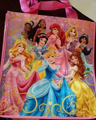 NWT Disney Store FEATURING 9 PRINCESSES Ecology Reusable Tote 2013 10 bag LOT