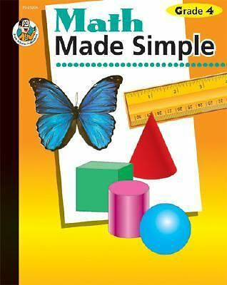 Math Made Simple Teaching Teacher Resource 4th Grade Basic Skills Book Learning