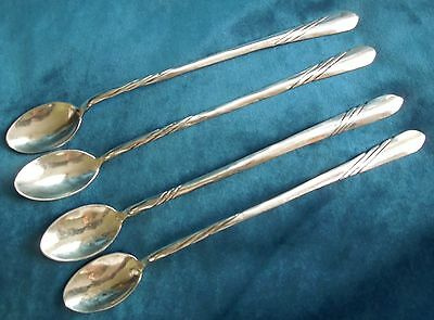 LOT Four(4)Vintage Silver Navajo ICED TEA SPOONS*8.5 Inches*111 Grams*3.9 Ounces