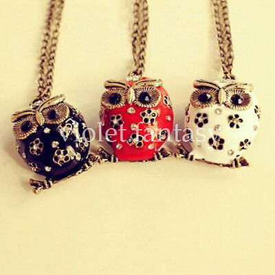 Popular Cute Retro Sweety Hollow Owl Amazing Exquisite Stylish Long Necklace