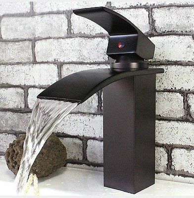 New Oil Rubbed Bronze Solid Brass Bathroom Sink Basin Tap Faucet Mixer  8256-4