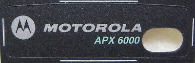 New OEM Motorola APX6000 Grille Housing Nameplate Label  - # 33009261001