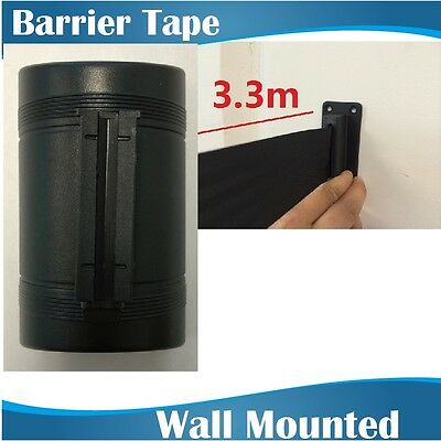 3.3m BLACK Retractable Barrier Tape/crow control barriers/wall mount barrier
