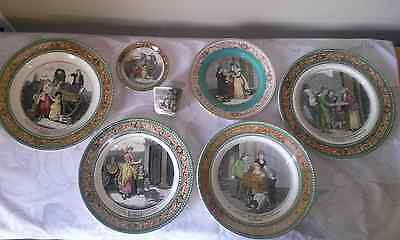 "ANTIQUE 7 Pc. Lot of ADAMS TUNSTALL /  ENGLAND CHINA ""Cries of London"" Series"