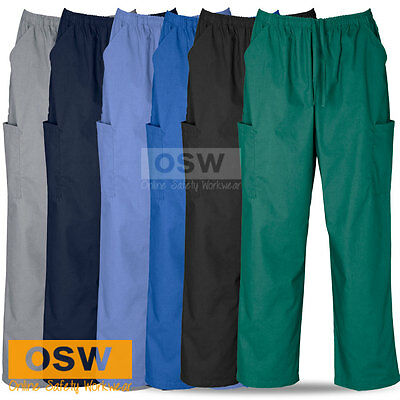 Unisex Hospital Medical Nursing Vet Dental Scrubs Bottom Cargo Pants Xs-5Xl