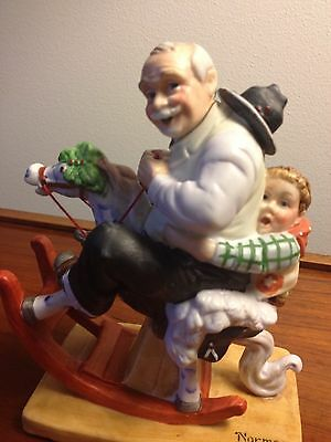 "Norman Rockwell ""Gramps At The Reins"" Porcelain Figurine 1980 - Danbury Mint NIB"