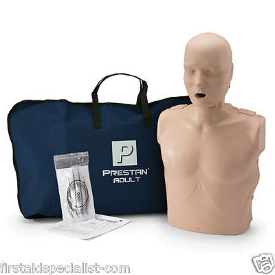 Genuine Prestan Adult Manikin with CPR LED Monitor & 10 Face Shield Lung Bags