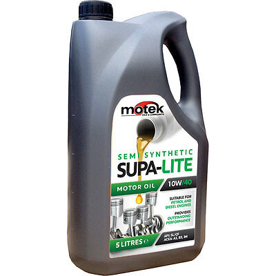 5 Litre Motek 10W/40 Supa-Lite Semi Synthetic Engine Oil