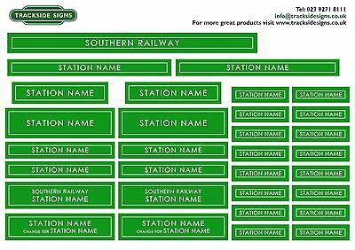 Southern Railway Model Railway Station Name Signs - O Gauge 7mm Trackside Signs