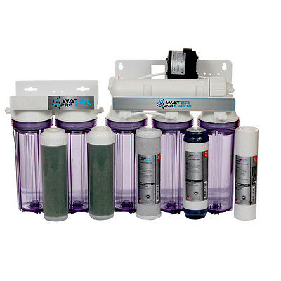 6-Stage Reverse Osmosis RO/DI Water Filter System-150GPD-Permeate Pump ERP 1000