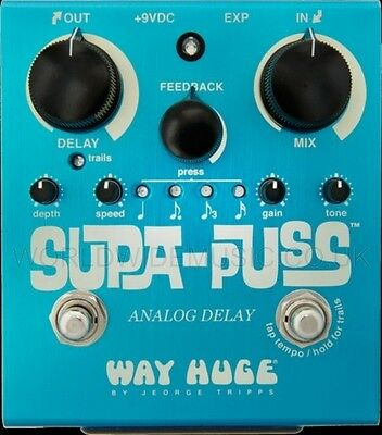Way Huge Supa Puss Analog Delay FX Pedal / Stomp Box
