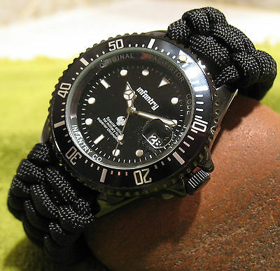 Paracord Survival Watch WATERPROOF (US Navy Vet Made) Built in Compass