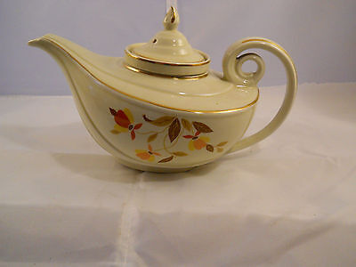 Hall's Autumn Leaf  Alladin teapot w/lid and infuser Made for Jewel Tea Co.