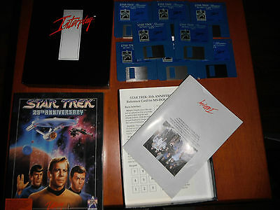 Vintage Star Trek 25th Anniversary by Interplay (IBM TANDY 1991) Complete!