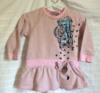 JUICY COUTURE 12-18 months baby girl pink dress ~ Knit