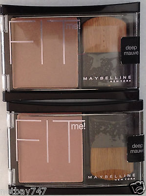 Maybelline Fit Me! Blush DEEP MAUVE 0.16 Oz Each - 2 Packs ~ Free Shipping