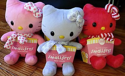 Build a Bear Hello Kitty Smallfry Set of 3 Collectible Christmas Pink Purple Red