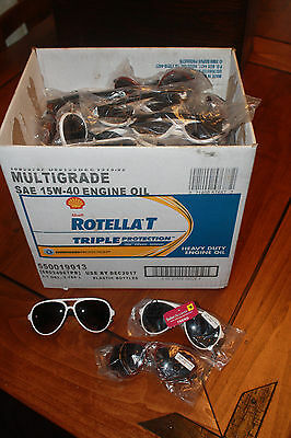 Wholesale lot of 74 Pairs of Solar Accent Sunglasses Aviator Style