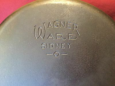 Wagner Ware Sydney -O- #8 Skillet With Stylized Logo 1058 A