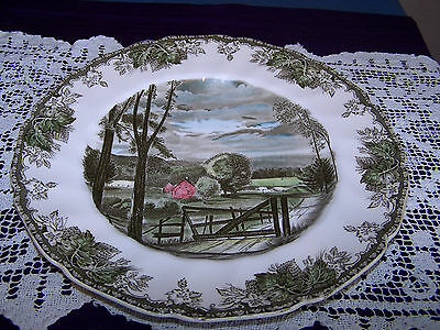 """Johnson Brothers, England: The Friendly Village """"The Hayfield"""" 10 3/4"""" Plate"""