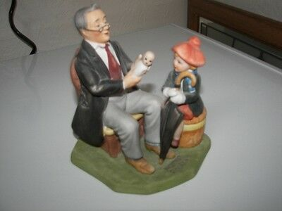 1980 Norman Rockwell The Doctor and The Doll Figurine