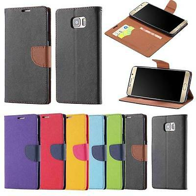 Magnetic Wallet Leather Case Card Slot Stand Holder Cover for Samsung iPhone