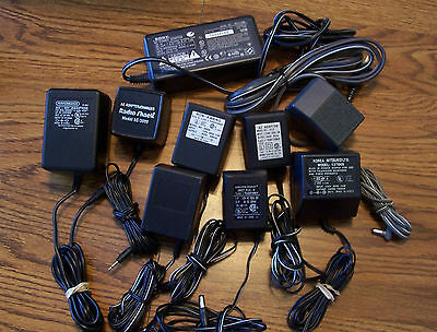 Lot of 10 Assorted AC - DC Power Adapters / Wall Chargers - Phone, camera, etc