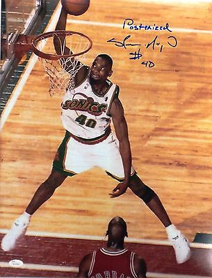 Shawn Kemp Signed Autographed 16x20 Photo JSA Authenticated #4