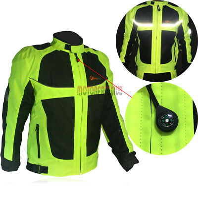 Motorcycle Racing Biker Men's Jacket Waterproof  Reflective Design Elbow Pads