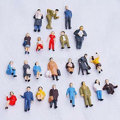24pcs Painted Model Train People Figures Train Scenery Layout 1:87 Scale HO