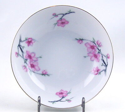 """FINE VINTAGE JAPAN CHINA SOUP OR CEREAL BOWL - DIAMOND CHINA - """"CHERRY BLOSSOM"""""""