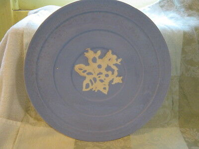 """Vintage  Harker Pottery Cameo Ware Dainty Flower Round Cake Plate 11"""" Diameter"""