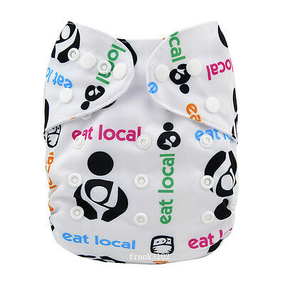 1 Eat Local Baby Cloth Diaper Reusable Washable Adjustable Pocket Nappy Cover