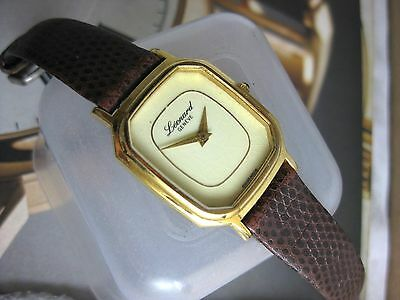 VINTAGE LEONARD WATCH CO GOLD FILLED 17 JEWELS   SWISS MADE WRISTWATCH